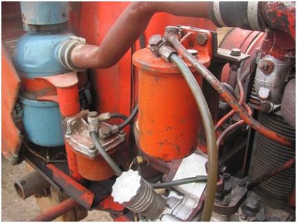 Топливные фильтры от ДТ-75 и самодельный воздухопровод