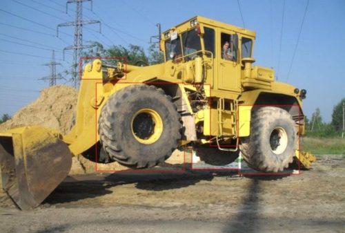 Параметры рабочего оборудования трактора (бульдозерного и погрузочного)