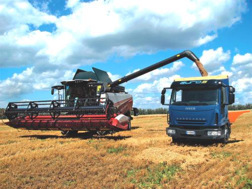 Бункер и выгрузка зерна