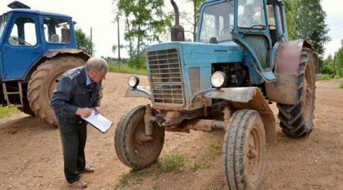 Как поставить на учёт трактор без документов или «собранный по частям»?