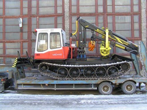 Бесчокерный трелёвочный трактор «ЛП-18К» на шасси «МСН-10»