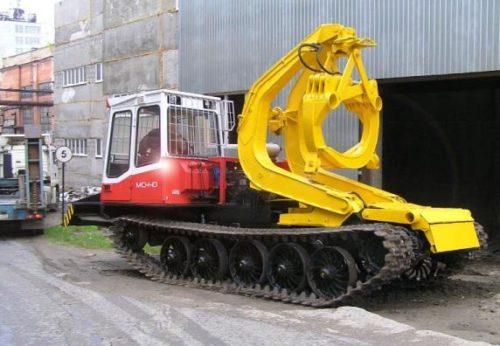 Бесчокерный трелёвочный трактор «ЛТ-187» на шасси «МСН-10»