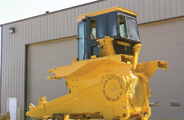 Кабина механизатора бульдозера «CAT D9R»