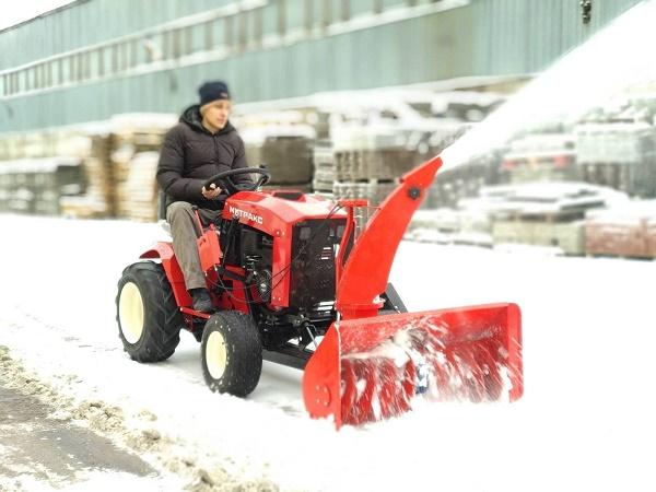 Опыт использования: уход за газоном, теплицей; сенозаготовка; уборка снега – зачёт