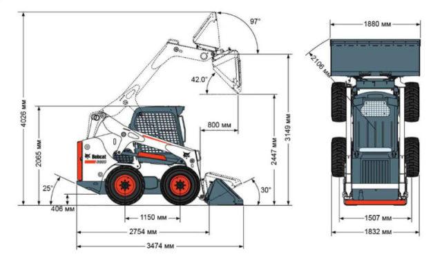 Некоторые технические характеристики Bobcat S650 в цифрах